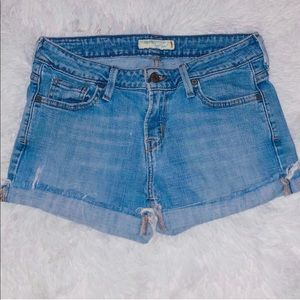 Levi's Low Rise Cutoff Denim Shorts - 0
